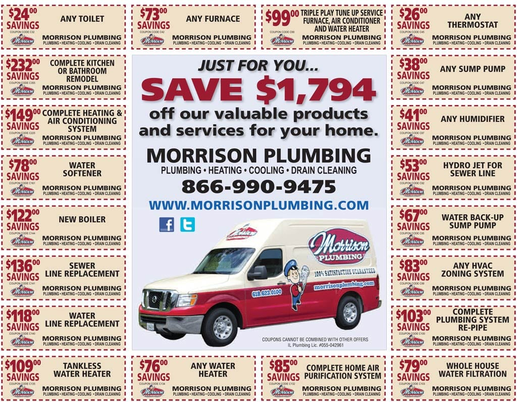 plumbinb heating cooling coupons list belleville il