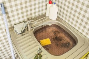 Clogged kitchen or bathroom with single basin sink in Belleville, Illinois